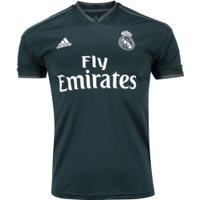 Camisa Real Madrid Ii 18/19 Adidas - Masculina - Cinza Escuro