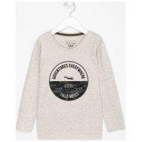 Camiseta Infantil Estampa Círculo E Skate - Tam 5 A 14 Anos | Póim (1 A 5 Anos) | Cinza | 7-8