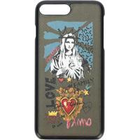 Dolce & Gabbana Capa Para Iphone 8 'Madonna' De Couro - Verde
