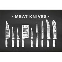 "Tapete Transfer ""Meet Knives""- Preto & Branco- 60X40Tapetes Junior"