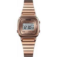 Relógio Feminino Skmei Digital - Feminino-Rose Gold