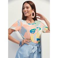 Blusa Tecido Rayon Bali Estampada