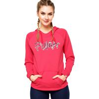 Moletom Puma Fundamentals Fun Font Hooded Sweat Rosa