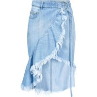 Pinko Midi Denim Skirt - Azul