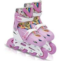 Patins Fashion Rollers Rosa - Bel Sports - M - 34/37 - Feminino
