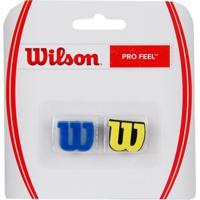 Antivibrador Wilson Pro Feel Azul E Amarelo - Unissex