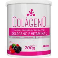 Colágeno E Vitamina C - 220G - Promel - Frutas Vermelhas