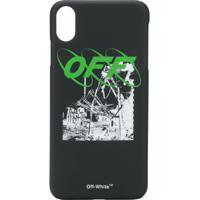 Off-White Iphone Xs Max Graphic Print Case - Preto