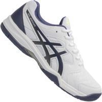 Tênis Asics Gel-Dedicate 6 - Masculino - Branco/Azul Esc