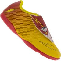 Chuteira Futsal Liga Da Justiça The Flash Rosto Ic - Infantil - Amarelo