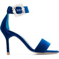 Manolo Blahnik Sandália 'Sanghal 90' - Azul
