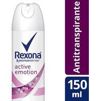 Desodorante Rexona Aerosol Antitranspirante Active Emotion Feminino 150Ml - Feminino