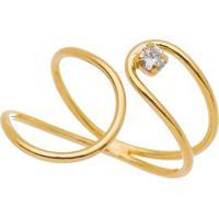 Anel Folheado A Ouro- Dourado- Regulã¡Velcarolina Alcaide