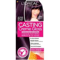 Coloração Casting Creme Gloss L?Oréal Paris ? Tons Escuros 316 Ameixa - Unissex-Incolor