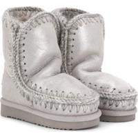 Mou Kids Eskimo Mid-High Boots - Metálico