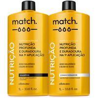 Combo Match Fonte Da Nutrição: Shampoo 1L + Condicionador 1L