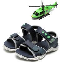 Papete Pé Com Pé Helicóptero Azul