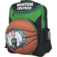 Mochila Nba Boston Celtics 3D Bola - Infantil - Verde/Preto