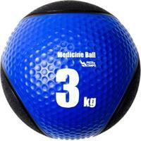 Medicine Ball Pista E Campo De Borracha Inflável Premium 3Kg - Unissex