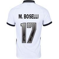 Camisa Do Corinthians I 2020 Nike - Masculina Nº 17 M.Boselli - Masculina - Branco/Preto
