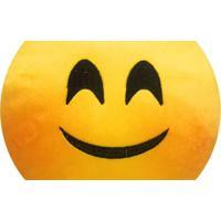 Almofada Capital Do Enxoval Emoji Feliz Corado Estampado
