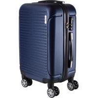 Mala De Bordo Pequena Para Viagem Em Abs Yins 21072 Rodinhas Duplas Cadeado Integrado - Unissex-Azul