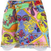 Versace Jeans Couture Paisley Print Mini Skirt - Amarelo