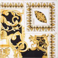 Versace Echarpe De Seda Com Estampa Barroca - Estampado