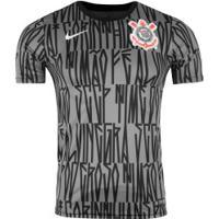 Camiseta Do Corinthians 19 Top Ss Nike - Masculina - Cinza