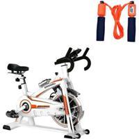 Bike Spinning Oneal Tp1100 Semi Profissional + Corda De Pular Liveup Ls3119 - Unissex
