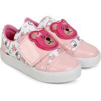 Tênis Infantil Tininha Urso Velcro Feminino - Feminino-Rosa+Pink