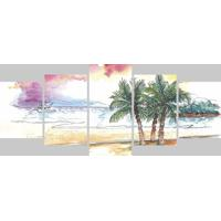 Quadro Decorativo Pintura Praia