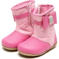 Bota Tricae Infantil Laço Strass Rosa