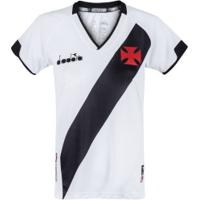 Camisa Do Vasco Da Gama Ii 2020 Diadora - Feminina - Branco