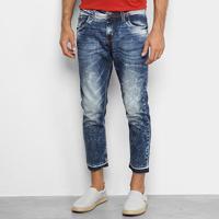Calça Jeans Colcci John Cropped Masculina - Masculino-Azul