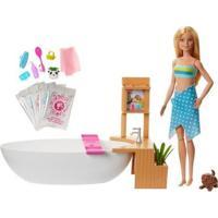 Boneca Barbie Banho De Espumas Com Acessórios - Feminino-Colorido