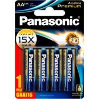Pilhas Panasonic Aa Alcalina Premium Leve 4 Pague 3