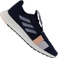 Tênis Adidas Senseboost Go - Feminino - Azul Esc/Rosa