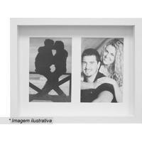 Porta Retrato Com Passe-Partout- Branco- 22X27X3Cm