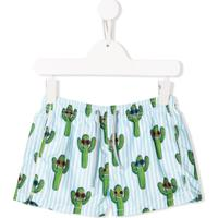 Mc2 Saint Barth Kids Cactus Drawstring Swim Shorts - Azul