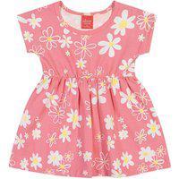 Vestido Bebê/Infantil Menina Floral Rosa - Elian