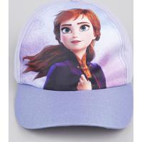 Boné Infantil Aba Curva Anna Frozen Lilás