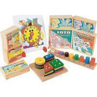 Jogo Educativo Maleta Matemática Carlu Com 10 Jogos Caixa Mdf