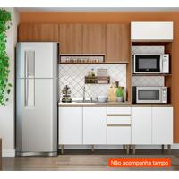 Cozinha Compacta Cook 10 Pt 2 Gv Madeira E Branca