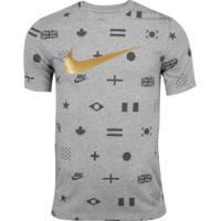 Camiseta Nike Sportwear Preheat - Masculina - Cinza