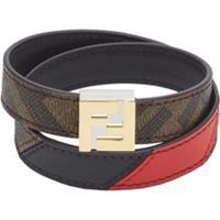 Fendi Ff Wrap-Around Bracelet - Marrom