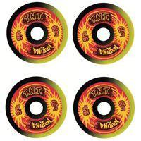 Rodas Narina Skate Tnt Reissue Rajada 60Mm 97A Preto E Amarelo