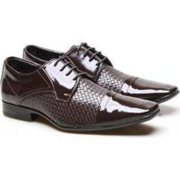 Sapato Social Versales Tressê Com Cadarço Conforto Masculino - Masculino-Marrom