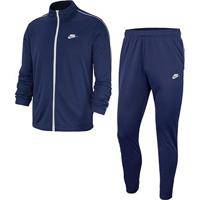 Agasalho Nike M Nsw Ce Trk Suit Pk Basic Masculino - Masculino-Azul+Branco