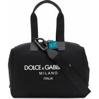 Dolce & Gabbana Mala Com Estampa De Logo - Preto